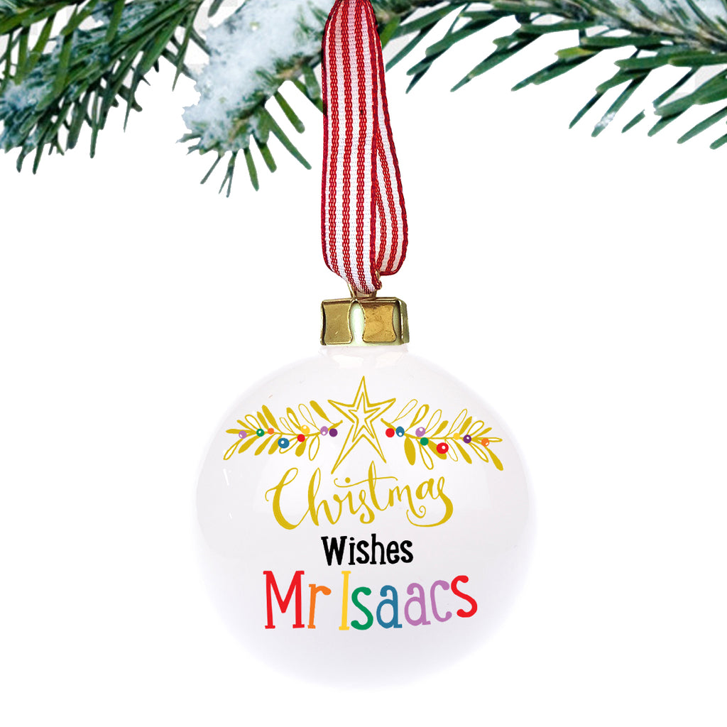 Christmas Teachers Bauble