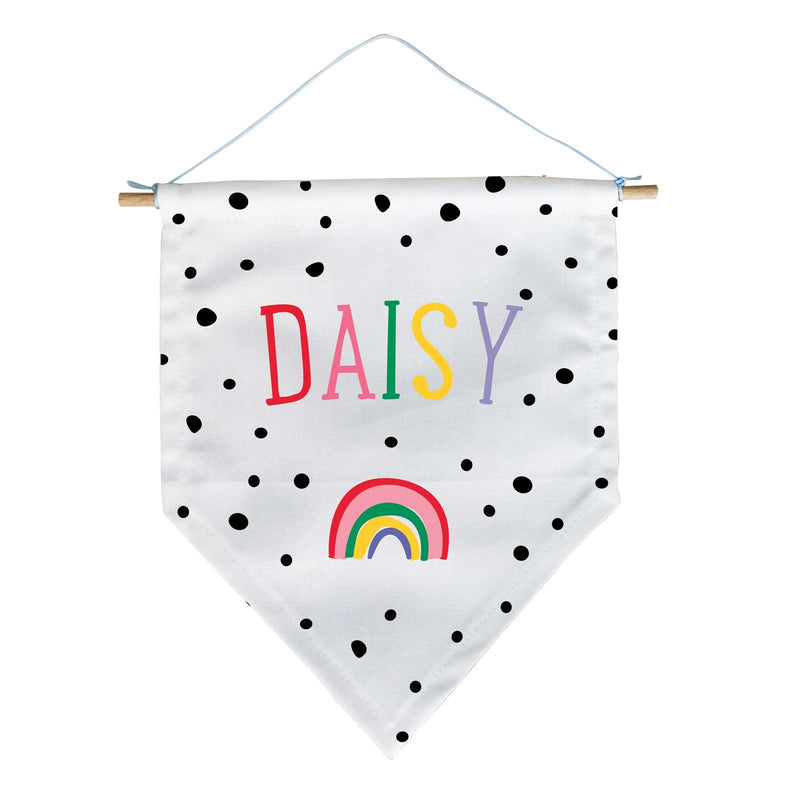 Personalised Dotty Rainbow Banner