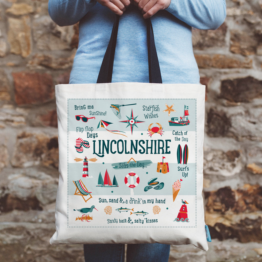 Lincolnshire Coastal Shopping Tote