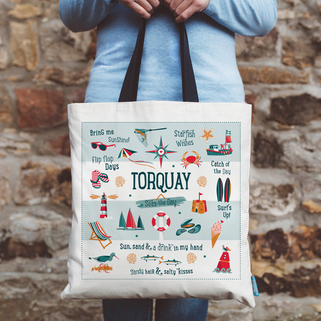 Torquay Coastal Shopping Tote