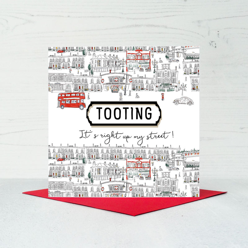 Tooting Greeting Card