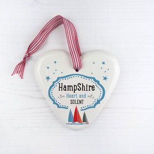 Hampshire China Heart Hanging Decoration