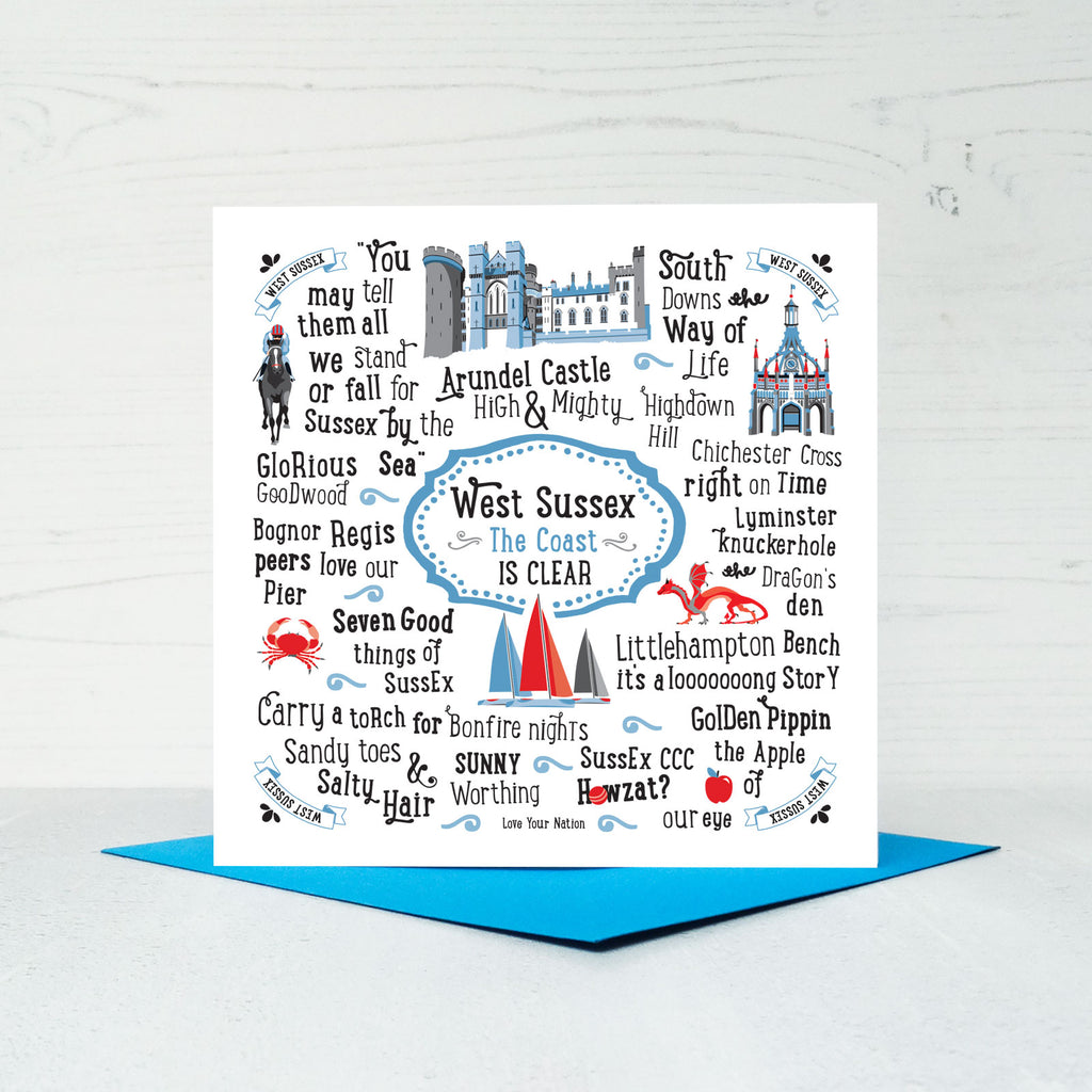 West Sussex Greeting Card