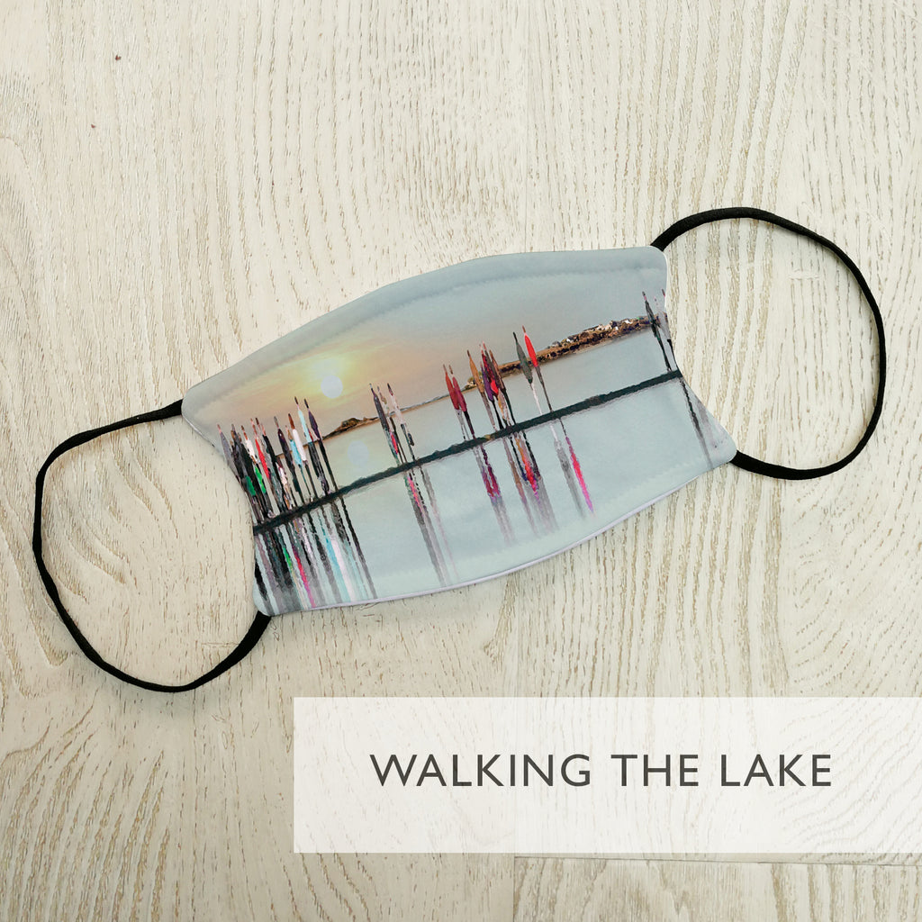 'Walking the Lake' Personalised Face Masks