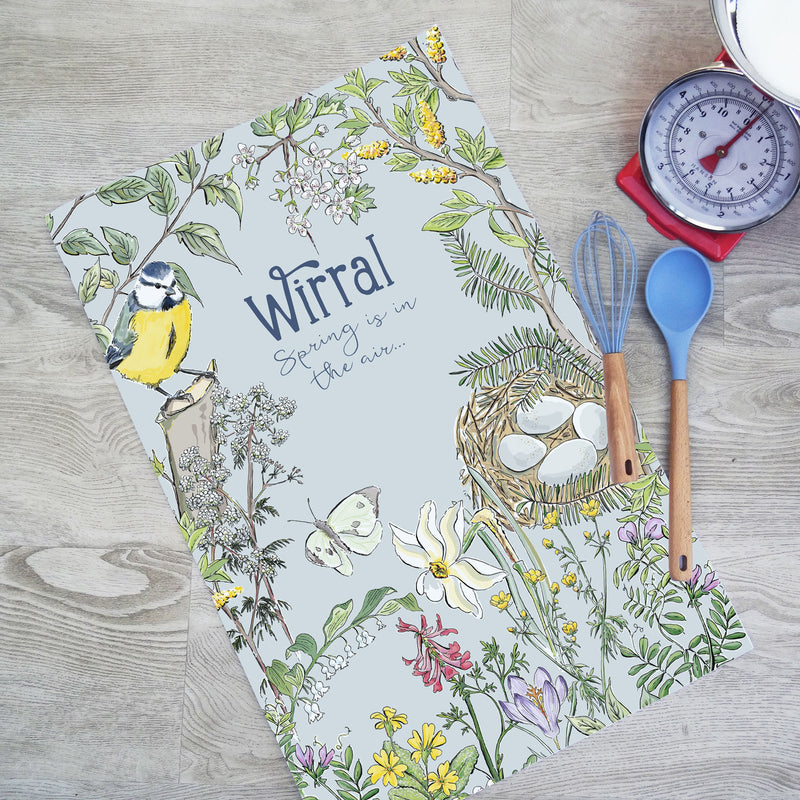 Wirral Spring Tea Towel