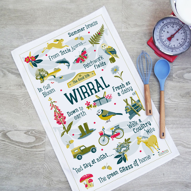 Wirral 'The Good Life' Tea Towel
