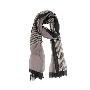 Joy Susan Black Houndstooth Scarf