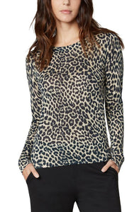 Liverpool Printed Long Sleeve Sweater Leopard Print
