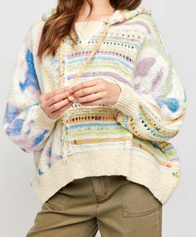 Free People Flower Child Poncho in Serene Dream Combo