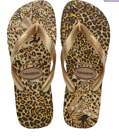 WOMEN'S SLIM ANIMALS FLIP FLOPS ROSE GOLD