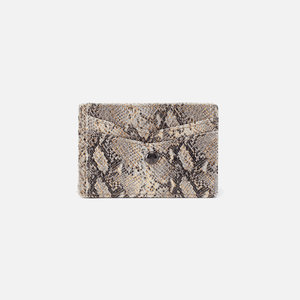 Hobo Simi Credit Card Wallet Glam Snake