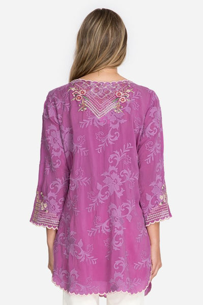Johnny Was Adonia Tunic Dark Orchid