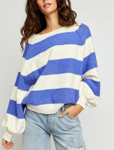 Free People Found My Friend Stripe in Lavender Cream Combo