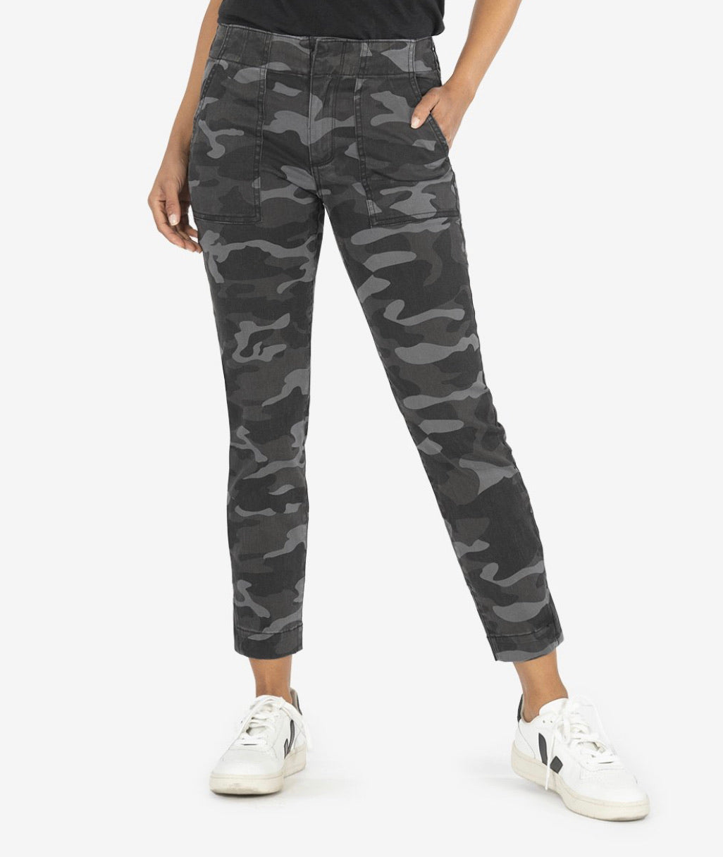 Kut Camo Reese Ankle Straight Leg