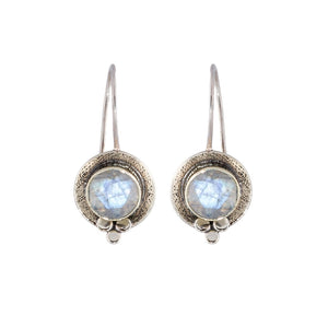 Ritual Hanging Scooped Moonstone Earrings
