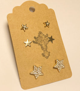 Star Earring Set Gold