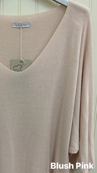 Soft Beige Made In Italy Knit Top