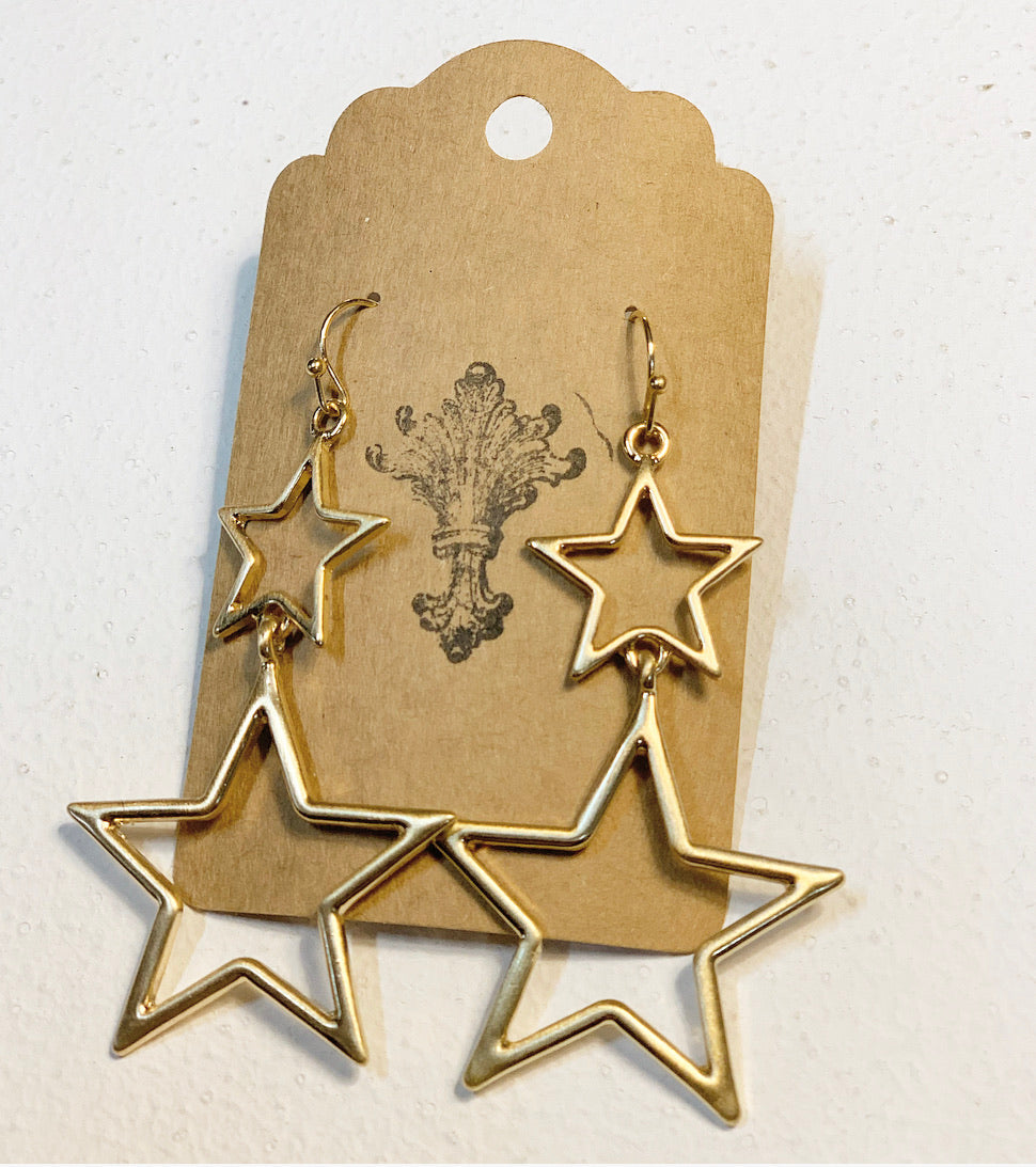 Oh My Stars Earrings, Gold