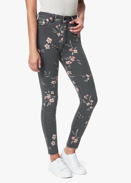 Joe's High Rise Skinny Ankle, Painted Blossom