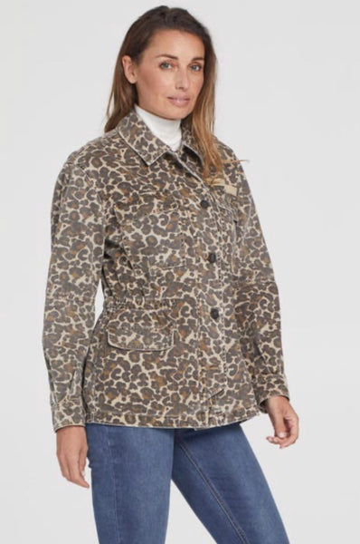 Tribal Leopard Cargo Jacket