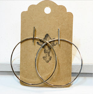 Lovely Silver Hoop Earrings