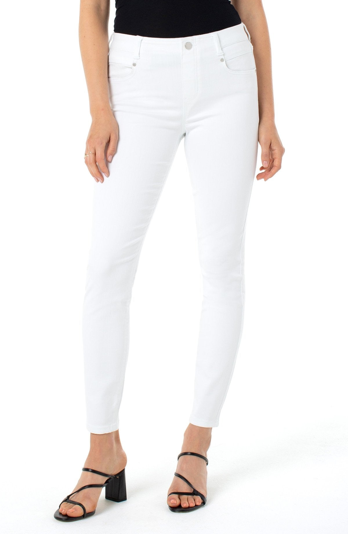 Liverpool Gia Slider Ankle Skinny White Pants
