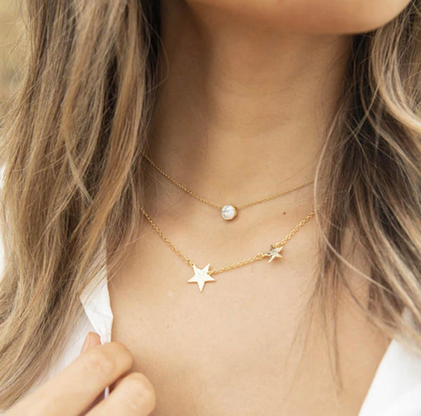 Gorjana Super Star Necklace, Gold