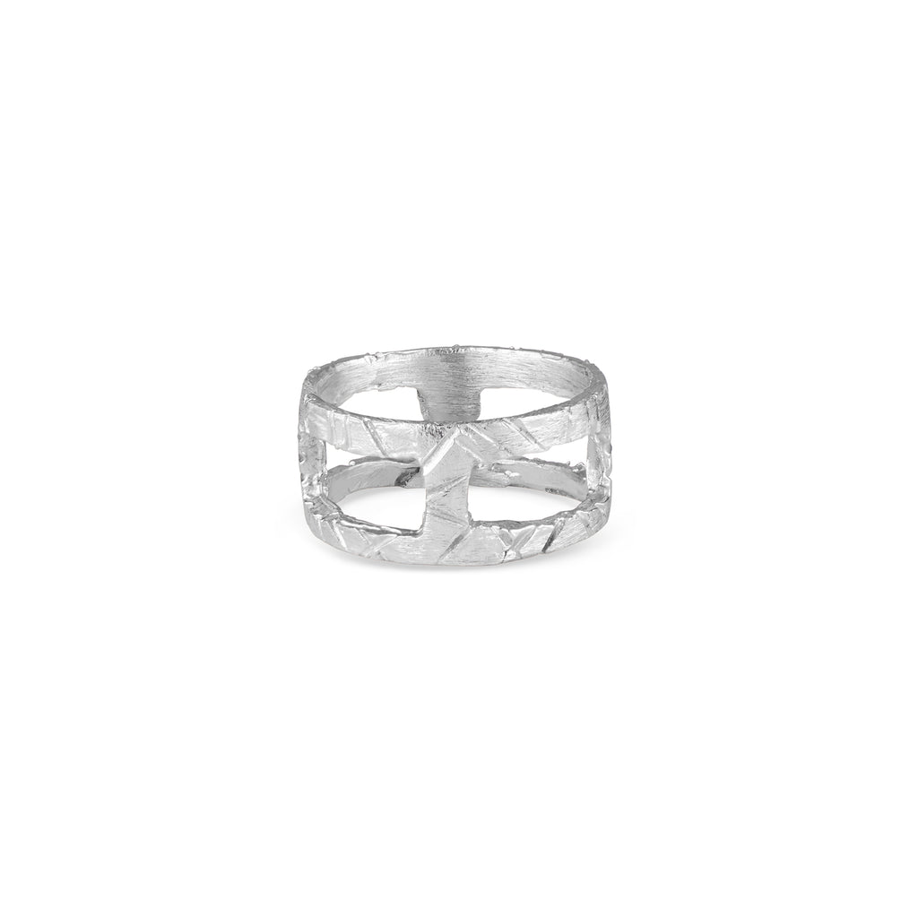 Handmade in LA by Natalie McMillan, the Kathleen Ring is edgy, rustic, yet still delicate, this very unique ring is perfect for every day wear or as a statement! It is solid Sterling Silver and each piece is handcrafted.