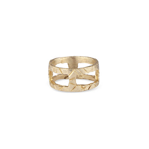The Natalie McMillan Kathleen Ring. Imperfect, edgy, rustic, yet still delicate, this very unique ring is perfect for every day wear or as a statement! It is solid 14k Gold, handcrafted, and made to order.