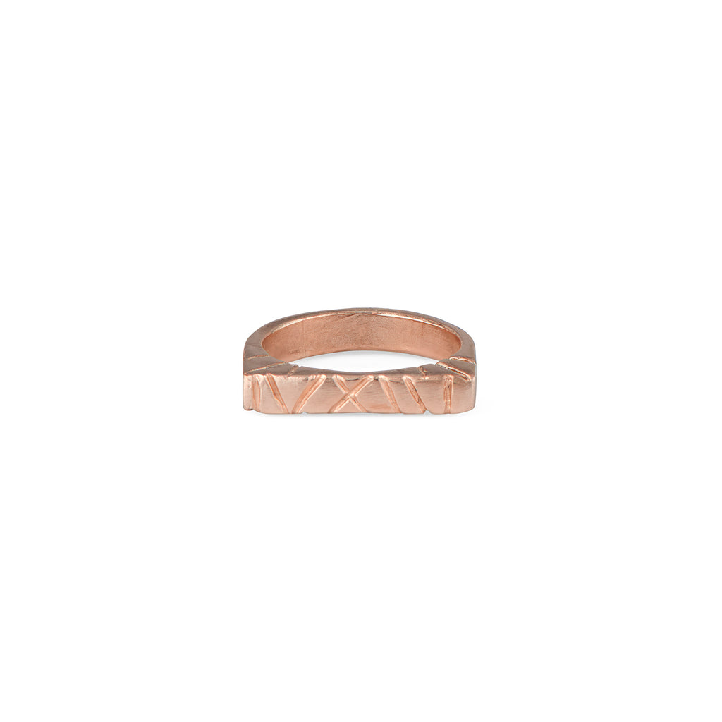 The Natalie McMillan 14k rose gold flat top is an amazing every day ring! It is incredibly comfortable, stackable, and lightweight. As always, it is handcrafted from start to finish and is a truly unique piece.