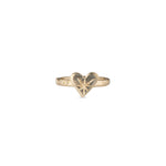 The solid Natalie McMillan 14k Harte Gold ring is best way to add a little LOVE to your jewelry collection!
