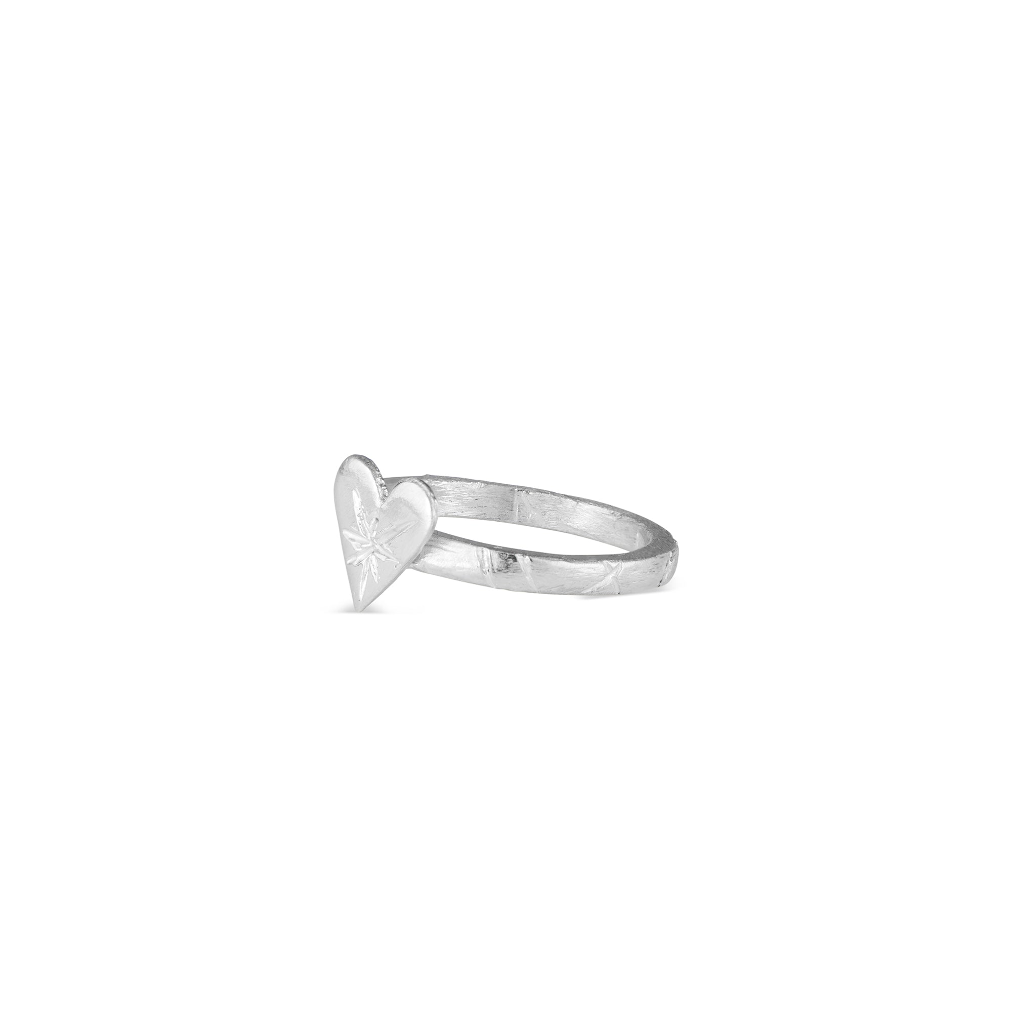 The Natalie McMillan Sterling Silver Harte Ring is best way to add a little LOVE to your jewelry collection!