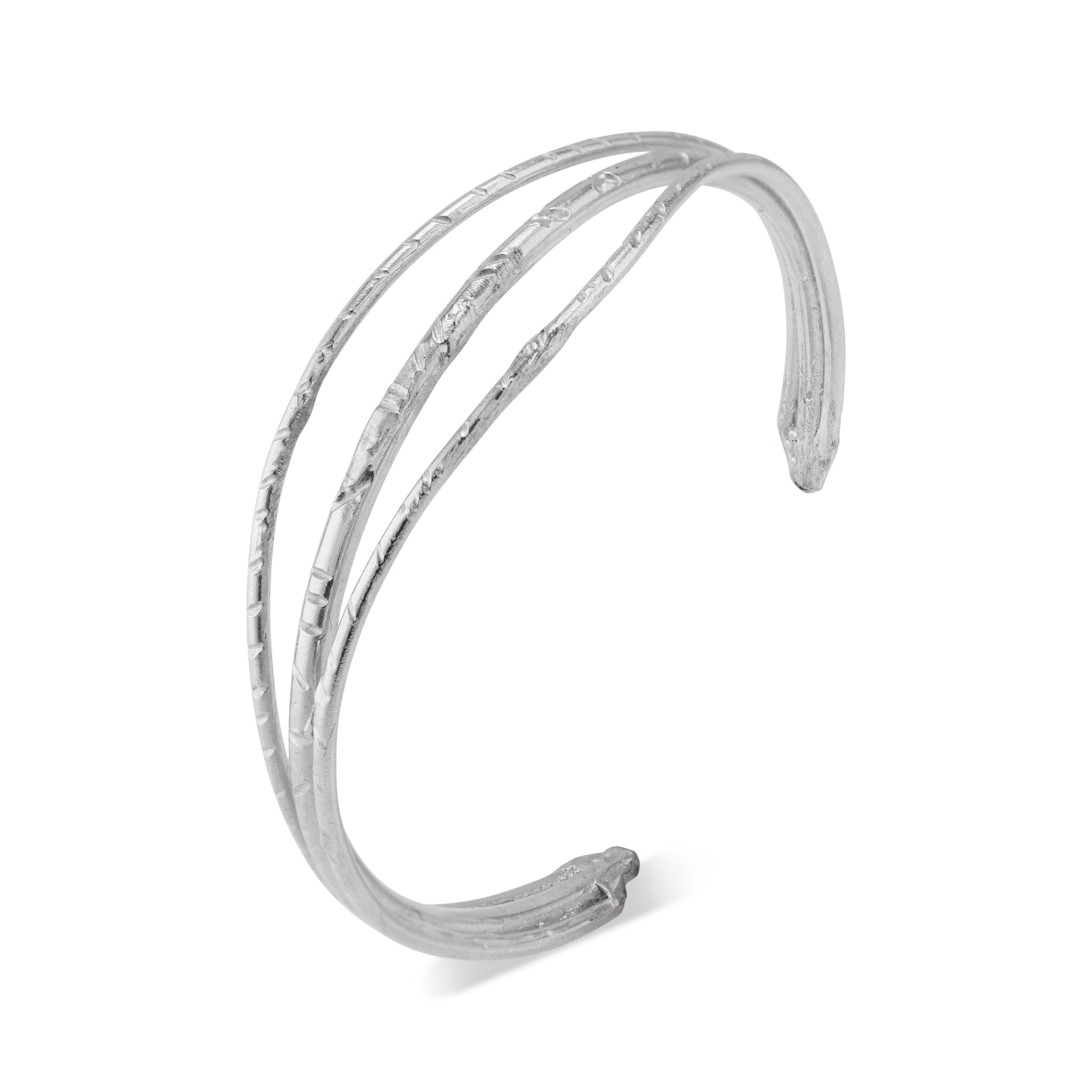 The Tate Cuff by Natalie McMillan is made of solid sterling silver, and while extremely durable, can still be slightly adjusted depending on the size of your arm. It can easily be dressed up or down and is a great staple piece to have!