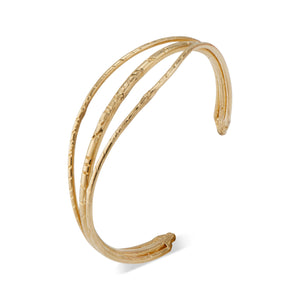 Designed by Natalie McMillan the Tate bracelet is made of solid 14k gold and will last many lifetimes. While extremely durable, can still be slightly adjusted depending on the size of your arm. It can easily be dressed up or down and is a great staple piece to have!