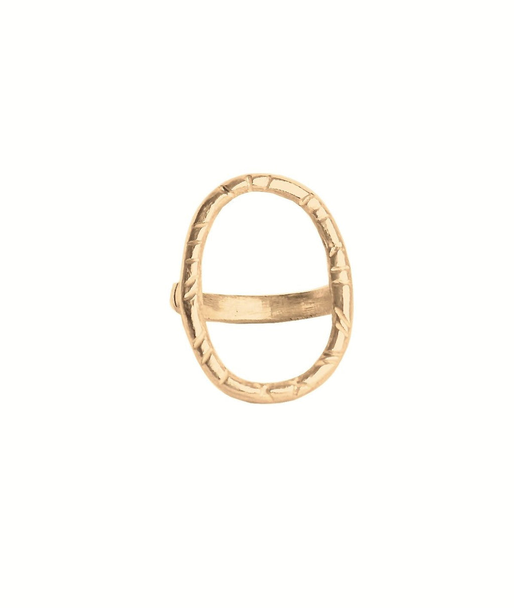 The Carrie Ring by Natalie McMillan, is a beautiful 14k solid gold staple for when you're in need of a statement ring, or just want to take your every day ring game up a notch.