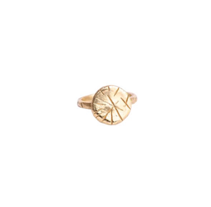 The 14k Gold Gina Ring is a must have for anyone who likes a solid, comfortable ring that can be worn daily! Its thin band is hand carved with Natalie McMillan's signature markings and features a thin circle that lays flat against the finger.