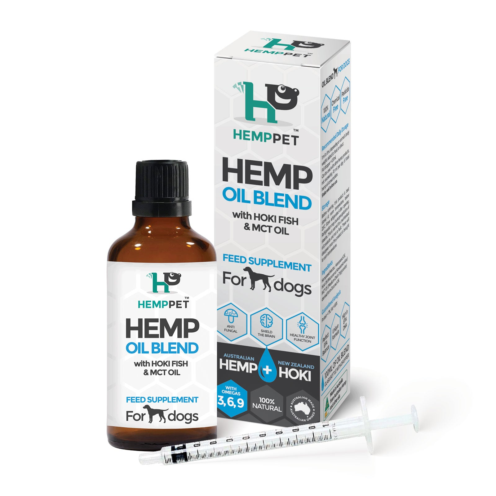 HempPet, Hemp Oil Blend with Hoki Fish and MCT oil for Dogs, Omega 369, DHA, EPA, dog skin issues and anxiety