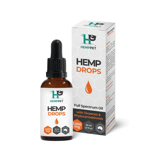 HempPet Hemp Drops, Anxiety, Pain relief for dogs