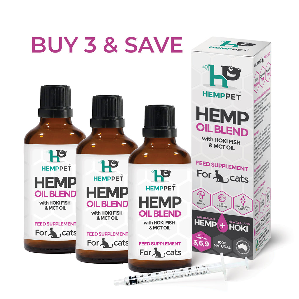 HempPet, Cat Hemp Oil, MCT Coconut, Hoki Fish Oil, omega 369, DHA EPA, skin