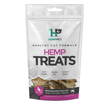 HempPet, Hemp infused Hoki treats for cats, Omega 369