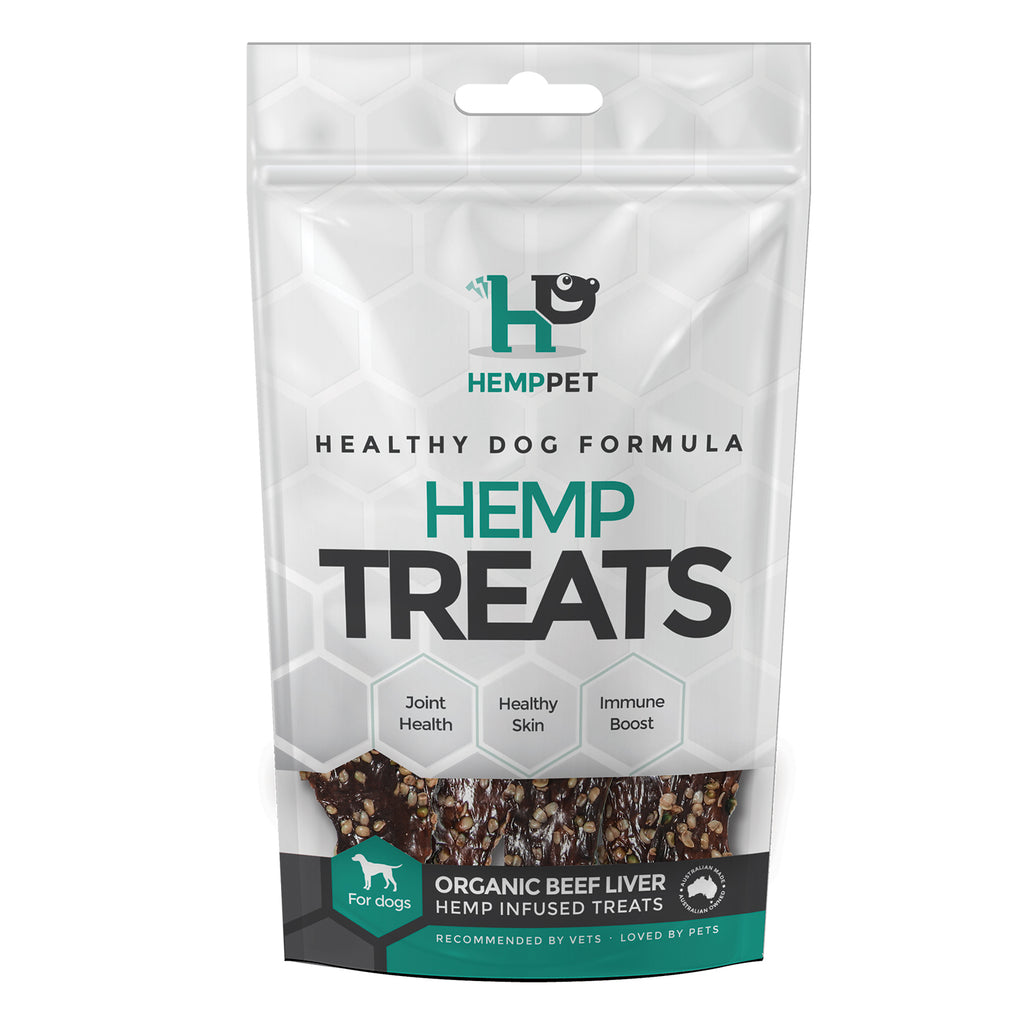 HempPet, Organic beef liver hemp infused treats for dogs, omega 369