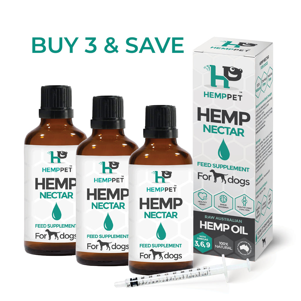 HempPet, Hemp Nectar, Raw Australian Hemp Oil for Dogs, Omega369