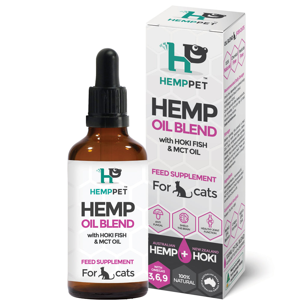 HempPet, Hemp Oil Blend with Hoki Fish and MCT oil for Cats, Omega 369, DHA, EPA