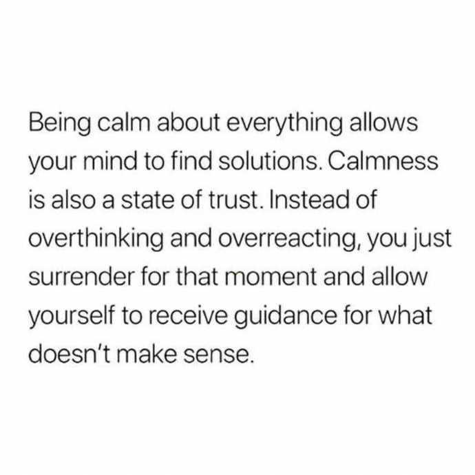 168. Find your calm 💜🙏
