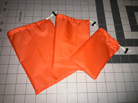 Hi Viz Blaze Orange (or Blaze Yellow) Ditty Stuff Sack Set