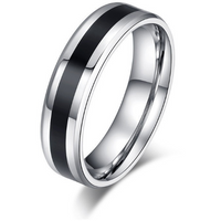 Titanium Stainless Steel Ring in Black or White (FREE SHIPPING)
