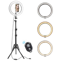 LED Selfie Light Ring Holder w/Tripod Stand (FREE SHIPPING)