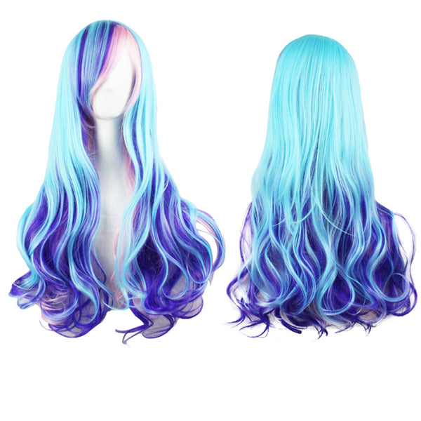 Long Gradient Color Big Wave Curls Full Wig (FREE SHIPPING)
