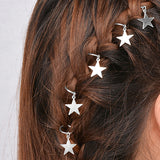 Shiny Star Hair Ring Clips for Braids - 5 Piece (FREE SHIPPING)