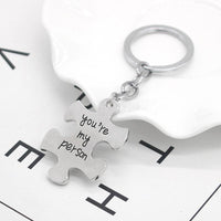 Couples 'You're My Person' Puzzle Piece Keychain Set (FREE SHIPPING)
